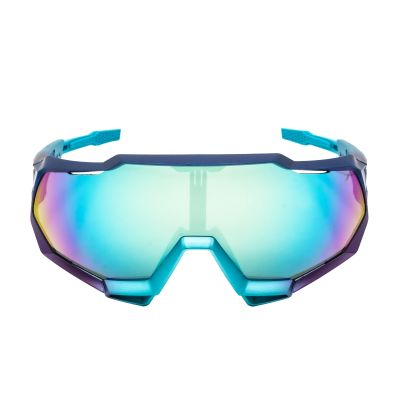 Speedtrap Matte Metallic Into the Fade - Blue Topaz Multilayer Mirror Lens