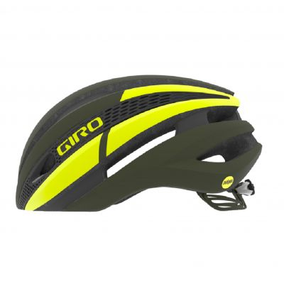 Helm Synthe Mips - matte olive/citron