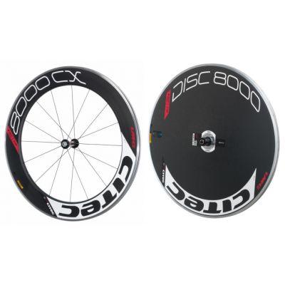 8000 CX Carbon Vorderrad + 8000 Carbon Disc Scheibenhinterrad