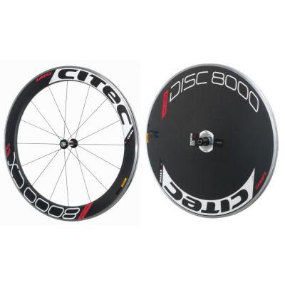 8000 CX / 63 Carbon Vorderrad + 8000 Carbon Disc Scheibenhinterrad