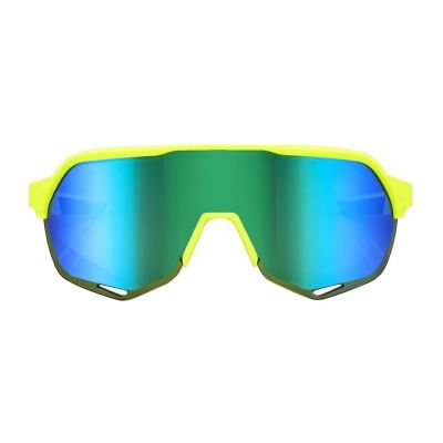 S2 - Matte Fluorescent Yellow Green Multilayer Mirror Lens
