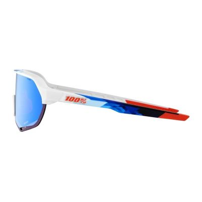 S2 - Matte White/Geo Print HiPER Blue Multilayer Mirror Lens