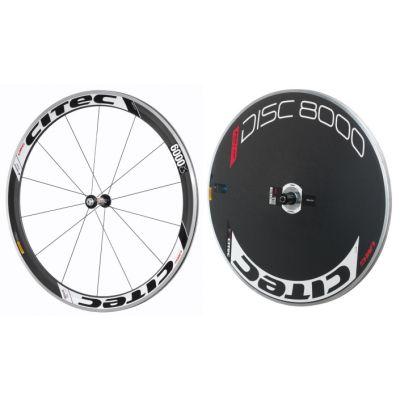 6000 CX Carbon Vorderrad + 8000 Carbon Disc Scheibenhinterrad